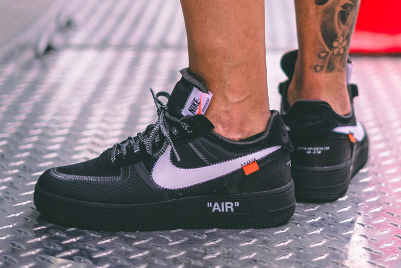 Off-White™ x Nike Black Cone Air Force 1 On-Foot