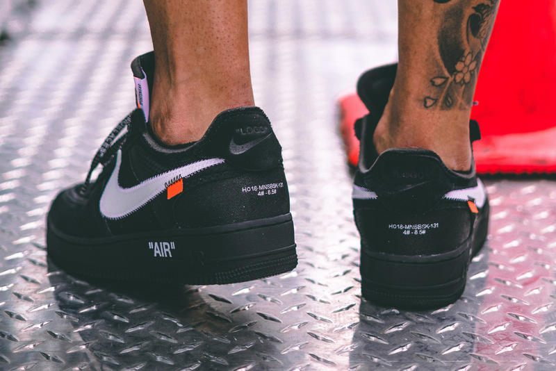 official photos 9fb07 90892 Off-White™ x Nike Black Cone Air Force 1 On-Foot