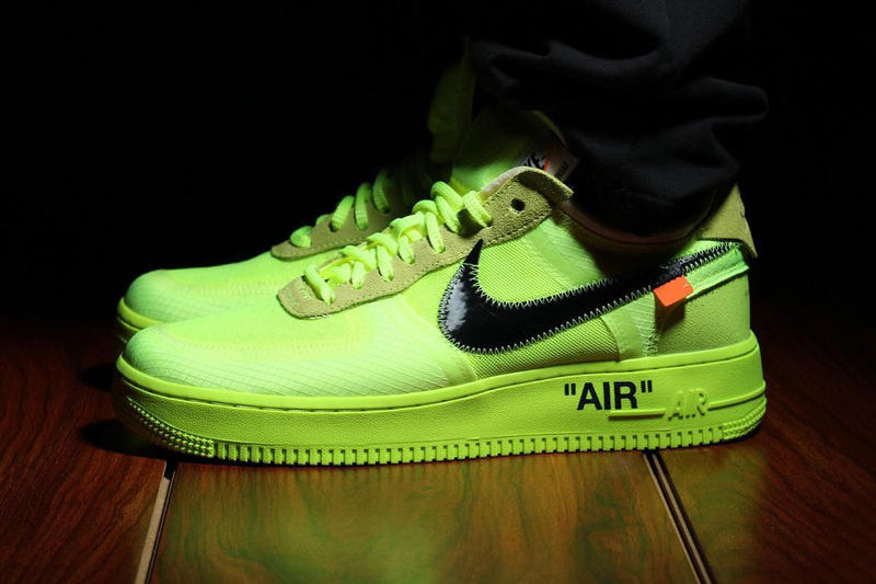 Off White X Nike Air Force 1 Volt Colorway Hypebeast