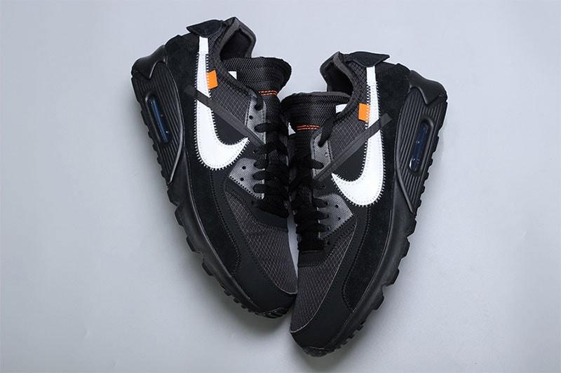 Off White X Nike Air Max 90 Black Closer Look Hypebeast