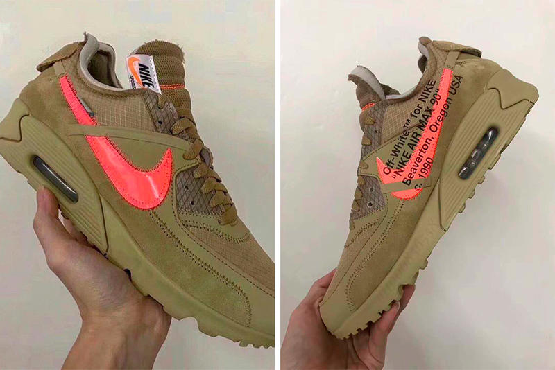 buy online e2179 0b32b Off-White Nike Air Max 90 Desert Ore First Look Virgil AblohDesert Hyper  Jade Bright