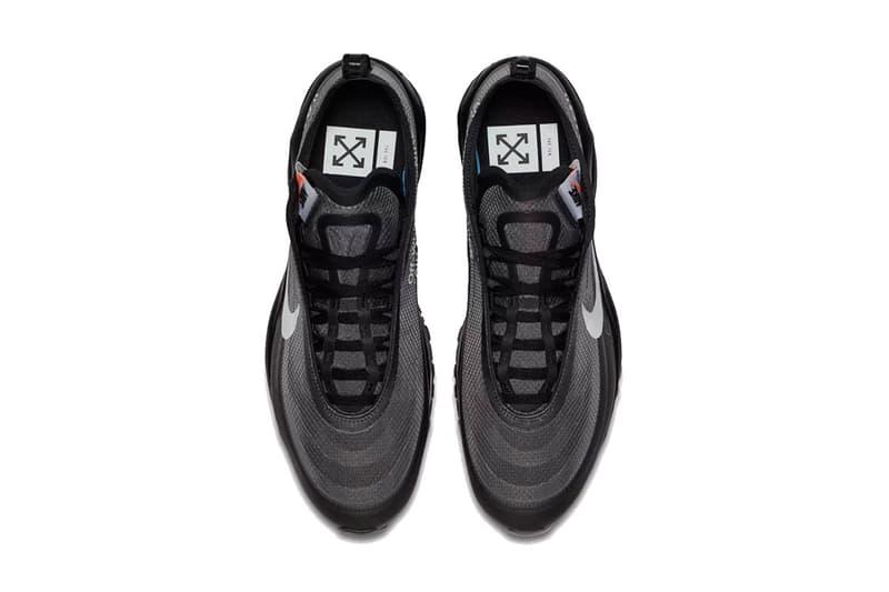 off white nike air max 97 virgil abloh 2018 nike sportswear footwear black white cone black