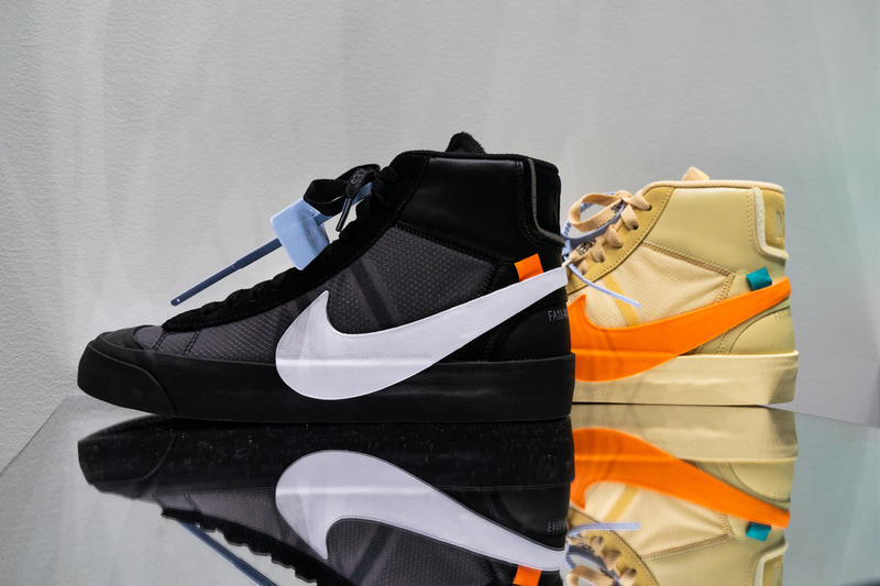 Off-White x Nike Blazer spooky Pack on StockX Sneakers Shoes Trainers Kicks Footwear Cop Purchase Buy Release Date Details The Ten Virgil Abloh Halloween Orange Black