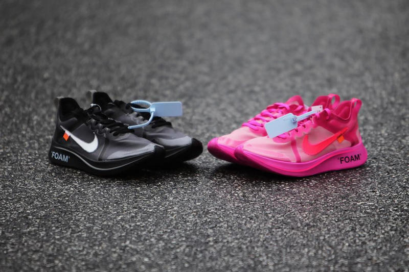8e287dd61f8f Off-White™ x Nike Zoom Fly SP Pink   Black Date