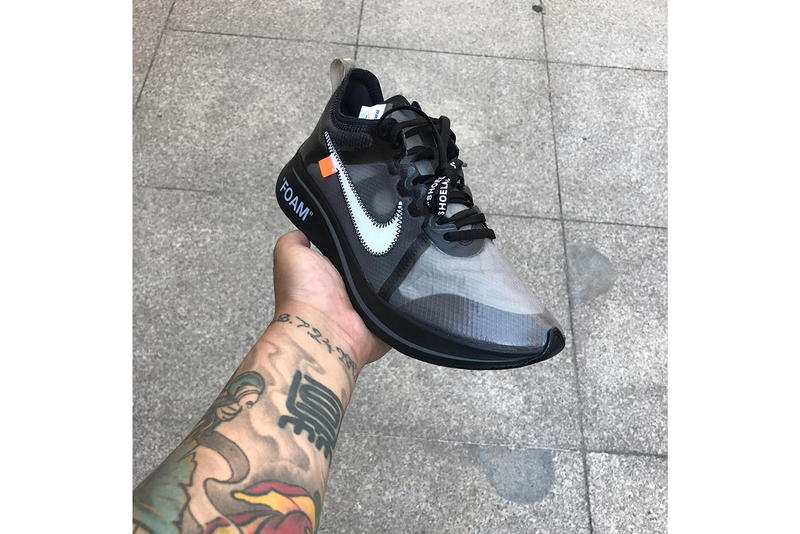 Off-White x Nike Zoom Fly SP Leak Black Pink Colorway Shoes Trainers Kicks Sneakers Cop Purchase Buy