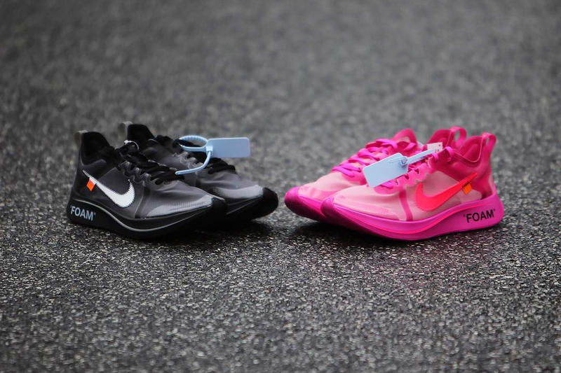 d9f917288aed Off-White Nike Zoom Fly SP Closer Look Pink Black Virgil Abloh New  Releasing Info
