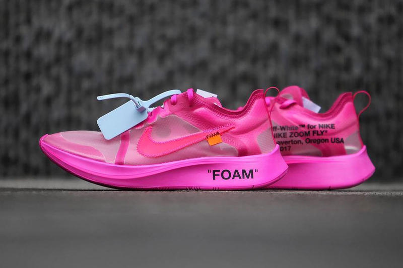 Off-White Nike Zoom Fly SP Closer Look Pink Black Virgil Abloh New Releasing Info Date