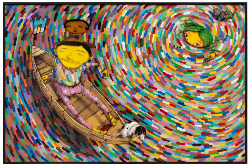 osgemeos booth frieze london artworks paintings lehmann maupin