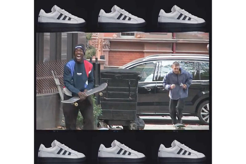 Palace adidas originals skateboarding collaboration first look announce teaser video drop release date black white colorway october 26 2018