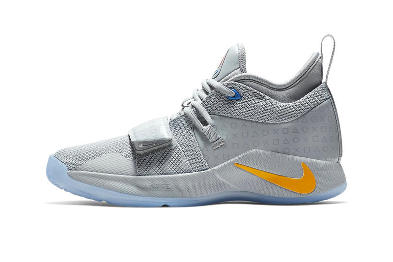 c0f365fbab2 Paul George Nike PG 2.5 Sony PlayStation Grey Release Logo Wolf Grey Multi  Color Logo