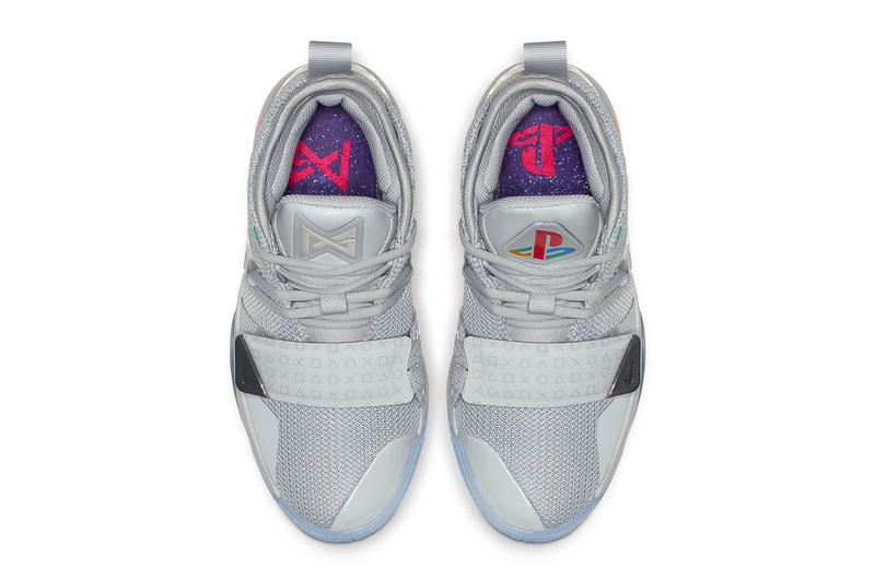 33888426d9e Paul George Nike PG 2.5 Sony PlayStation Grey Release Logo Wolf Grey Multi  Color Logo. 3 of 4
