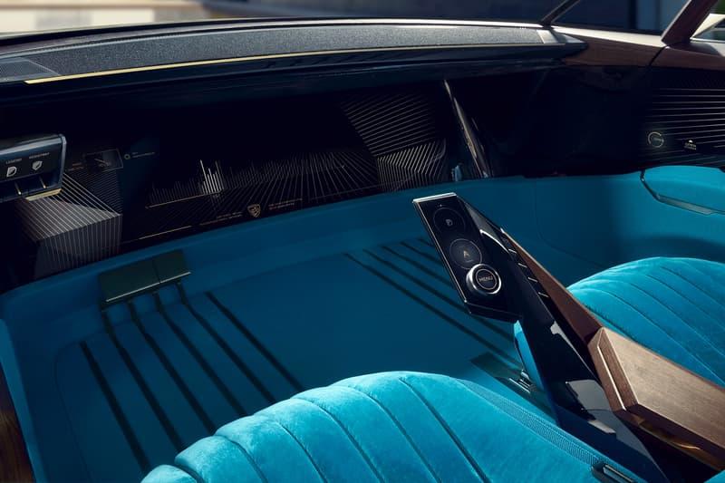 Peugeot e-LEGEND Electric Car Concept autonomous driving sports car automotive AI design closer look 504 coupe