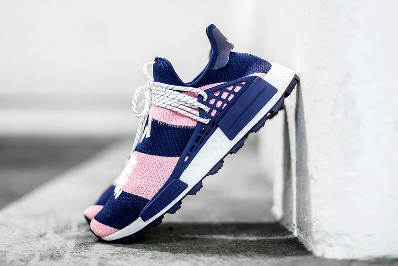 faa105152a38c Pharrell Williams x adidas Originals NMD Hu BBC Billionaire Boys Club  Closer Look Pink Purple Colorway
