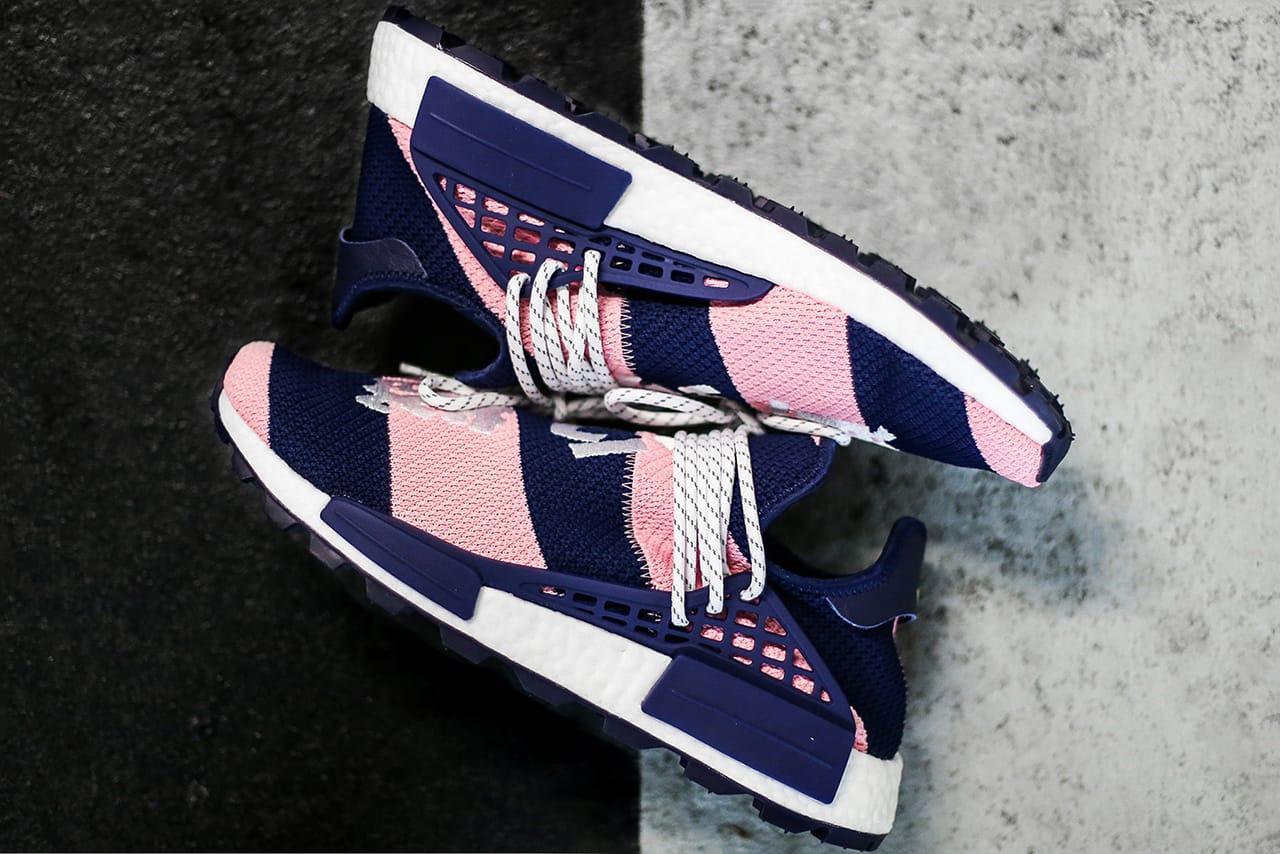 adidas nmd hu pharrell x billionaire boys club navy pink