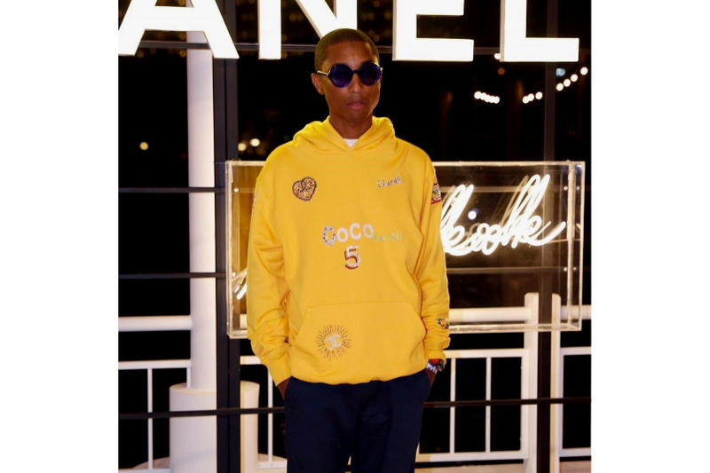 pharrell wlliams chanel collaboration collection cruise 2018 2019 yellow hoodie sweater pullover jumper