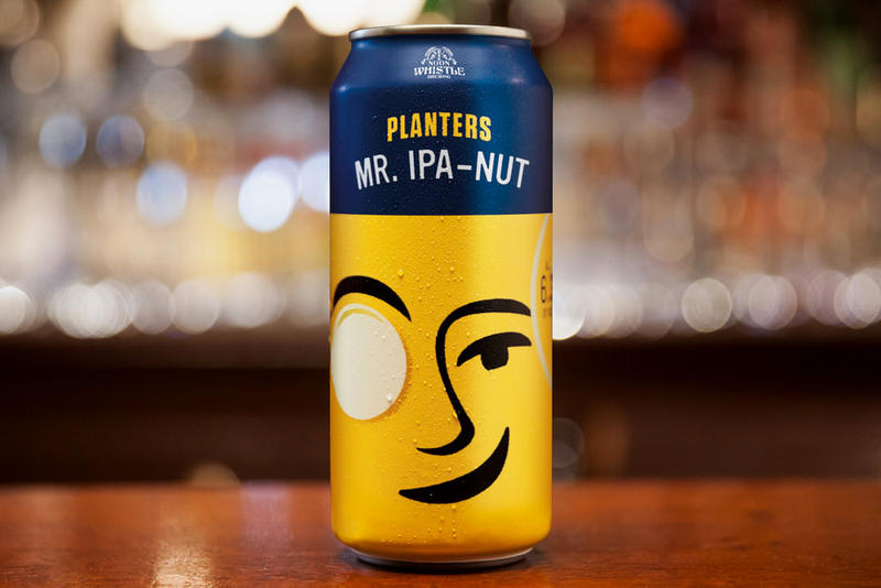 Planters peanuts Mr. IPA-Nut Beer Noon Whistle Brewery can purchase illinois drinks peanuts 16oz