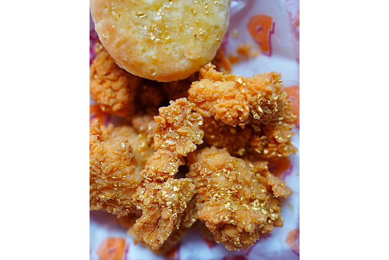 Popeyes Offers Champagne Dipped 24K Gold Coated Wings