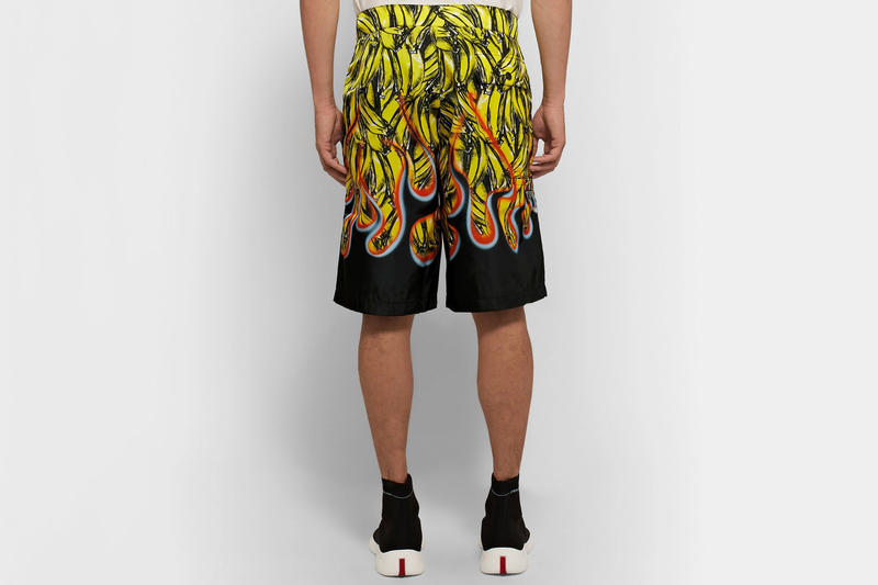 prada flame banana nylon swim shorts 2018 fashion yellow black red orange blue