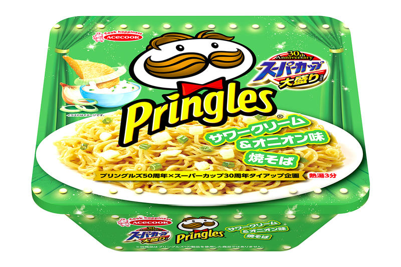 Pringles Sour Cream Onion Instant Noodles Japan Jalapeño Onion Exclusive Snacks Chips Squid Yakisoba Chicken Soy Ramen Flavored