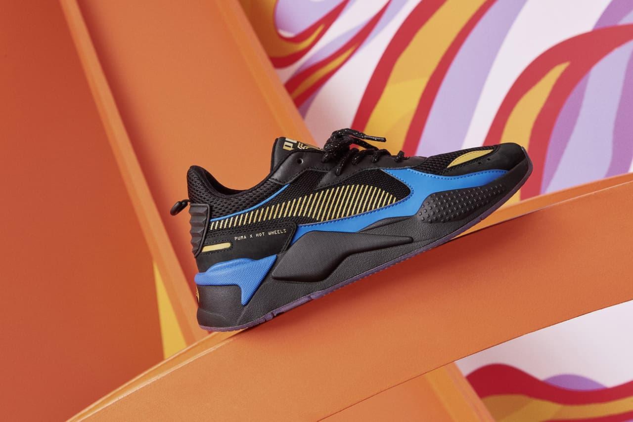 Mattel x PUMA RS-X Rodas Quentes Data de Lançamento Sapatos Formadores Pontapés Sapatilhas Calçado Cop Compra Compre Mais Primeiro Olhar Primeiro Olhar