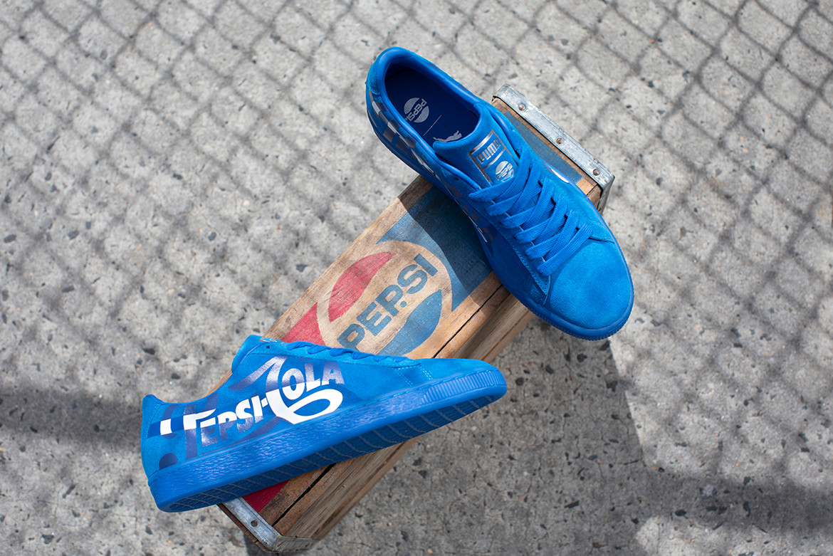 separation shoes 88c58 c064a Pepsi x PUMA Suede 50th Anniversary Collaboration | HYPEBEAST