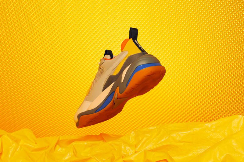 PUMA Thunder Spectra Lookbook sneakers rs-0 cell technology white tan grey yellow orange blue white shoe running dad shoe chunk bold