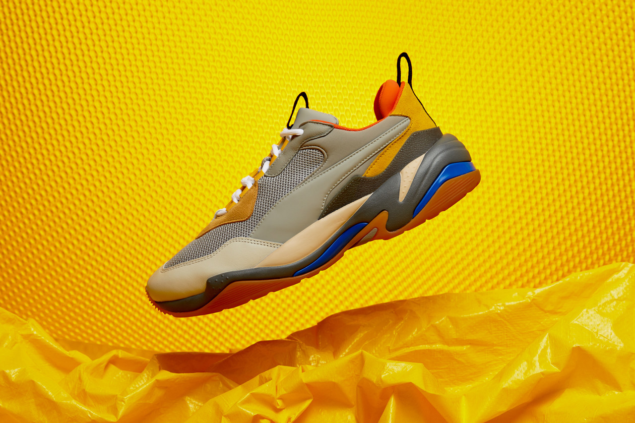 PUMA Thunder Spectra in Yellow, Blue