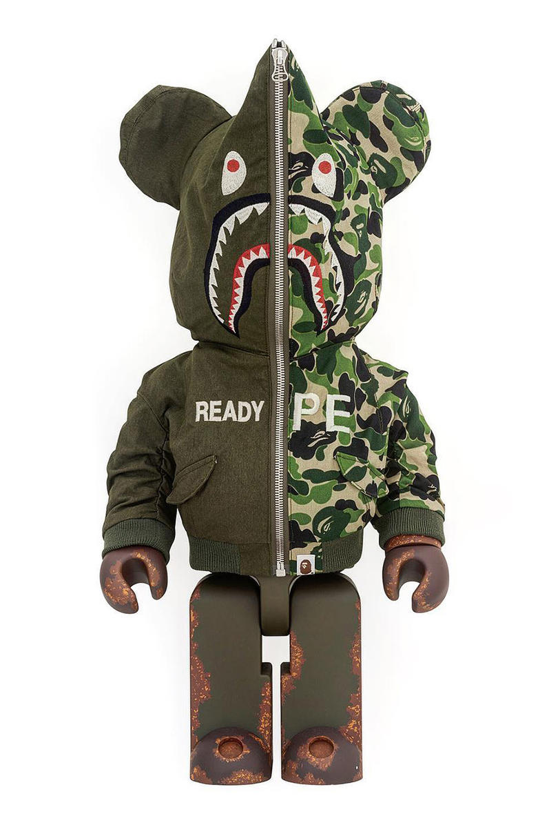 1d46d511 readymade bape medicom toy bearbrick yuta hosokawa october 20 patchwork  vintage remade figure 1000 100 400