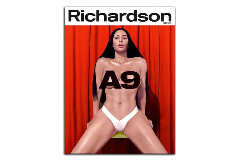 kim kardashian west richardson magazine a9 issue publication bret easton ellis andrew steven klein interview cover story shoot