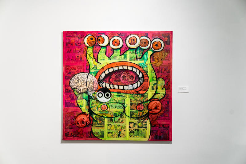 ron english delusionville exhibition allouche gallery artworks art artists sculptures paintings daniel johnston
