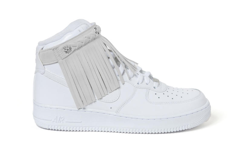 sports shoes 9f0a3 b7c97 Sacai x Nike Air Force 1 high Lane Crawford Exclusive moccasin fringe  release date price hong