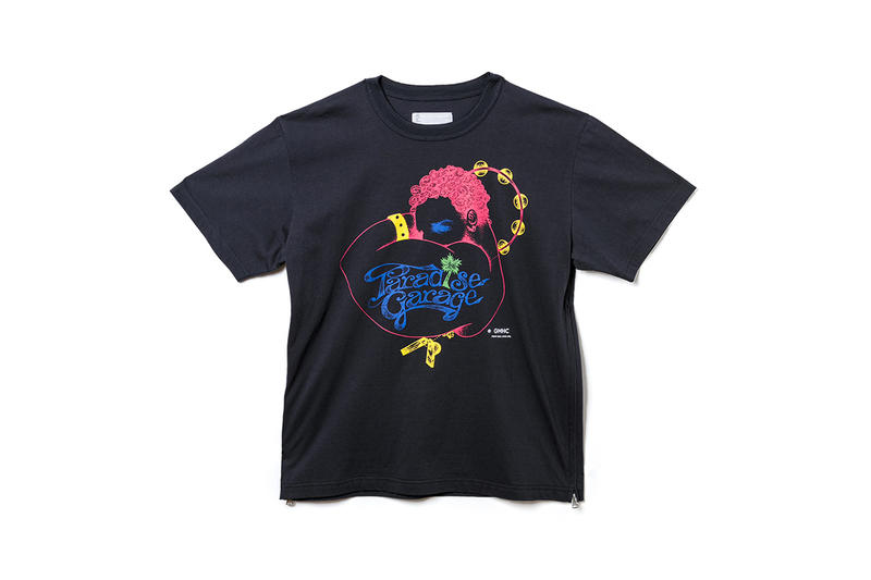 sacai paradise garage hypefest exclusive drop release info details chitose abe new york club graphic coaches jacket hoodie tee shirt hat print