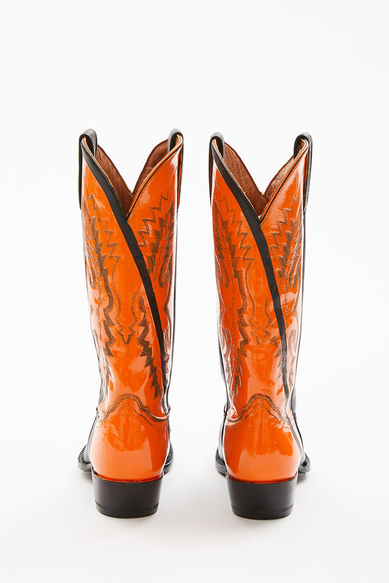 fb45d5777f2c91 Sarah Morris Helmut Lang Painted Cowboy Boots collaboration footwear spring  1994 summer collection runway heritage archive