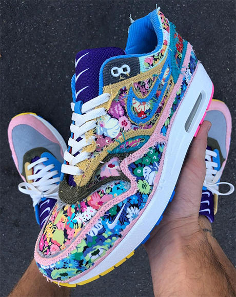 sean wotherspoon nike air max 1 corduroy tear away bespoke custom october 2018 new liberty fabric floral