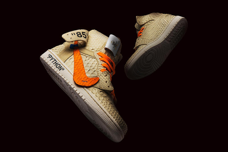 7815dbe41c19 The Shoe Surgeon Air Jordan 1 All Hallow s Eve Halloween off-White Virgil  Abloh Python