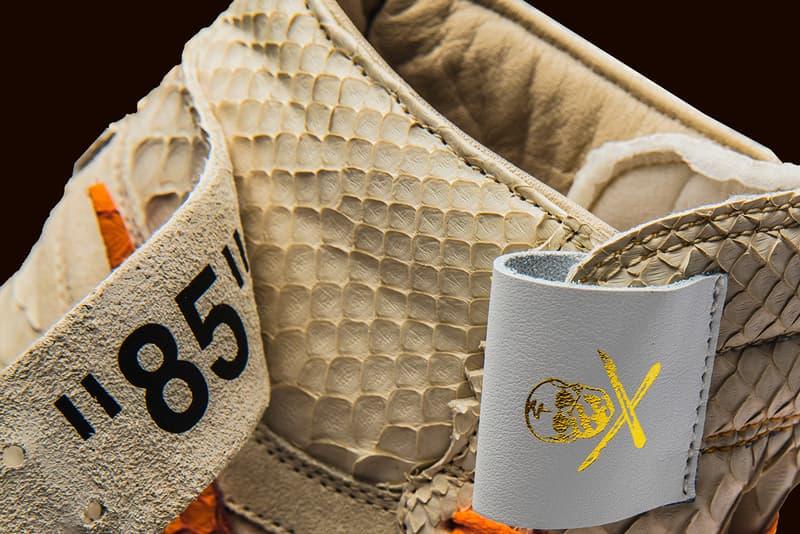 The Shoe Surgeon Air Jordan 1 All Hallow's Eve Halloween off-White Virgil Abloh Python Custom Nike Jordan Brand Orange Cream Limited Edition Release Details