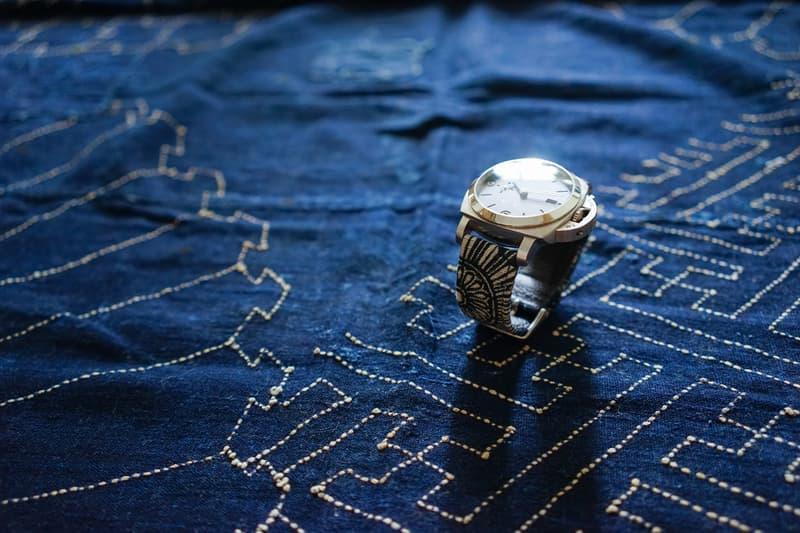 Simple Union Indigo Fabric Watch Straps japan japanese timepieces