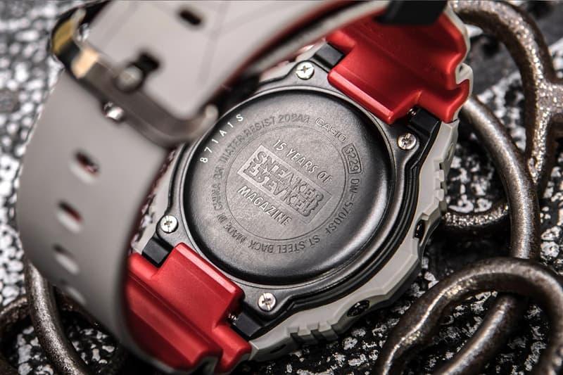 "Sneaker Freaker x G-SHOCK ""Redback"" DW-5700 watch collaboration halloween design skeleton purchase release date"