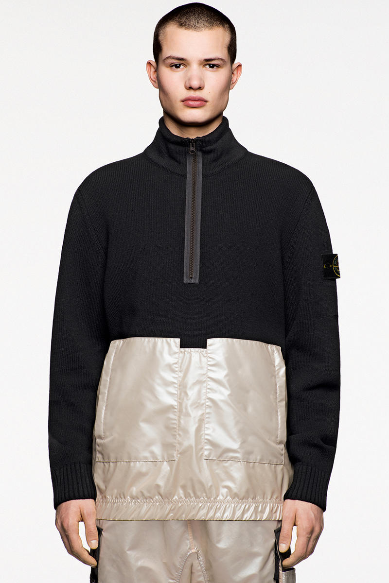 Stone Island Fall Winter 2018 Iridescent Capsule Collection Reflex Matte Fleece Pullover Sweater Jacket Pants
