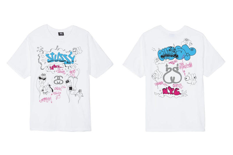 Stüssy new york city chapter store archive sale announce event location canal street october 19 21 2018 limited exclusive tee shirt shawn mark gonzales nas ghost world la brea collaboration collection vintage rare