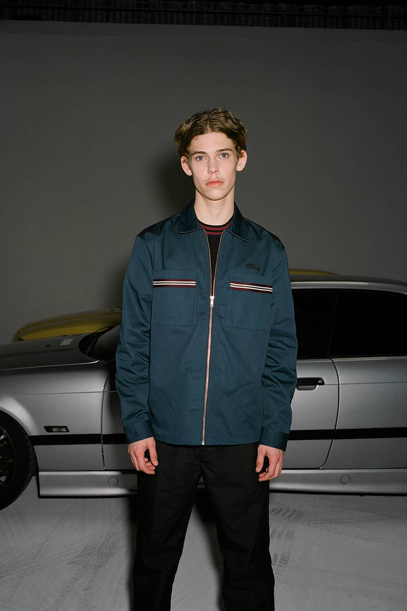 Stüssy holiday 2018 lookbook collection fall winter jacket puffer jacket hoodie coaches jacket jeans pants patchwork october 26 2018 release date info buy
