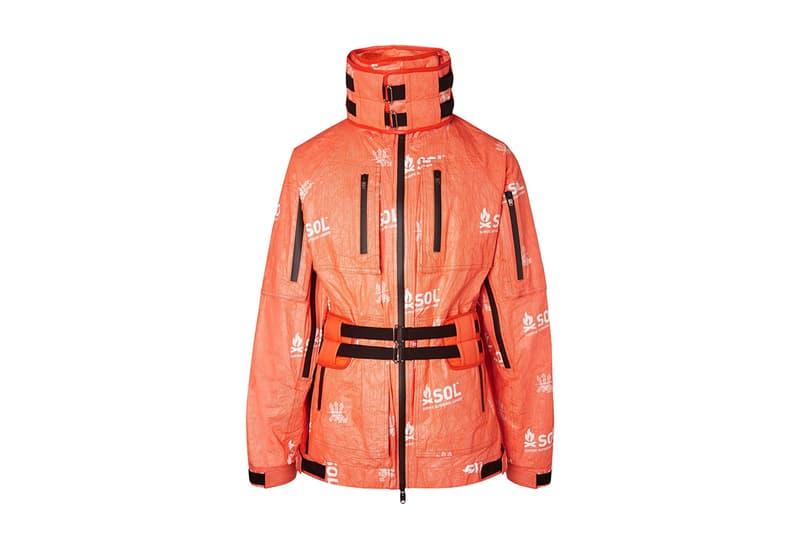 TAKAHIROMIYASHITA TheSoloIst. Printed Tyvek Shell Hooded Jacket Orange SOL Survive Outdoors Longer