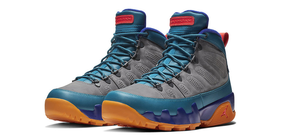 b29e8b4805b8 Air Jordan 9 Boot NRG Grey Blue Orange