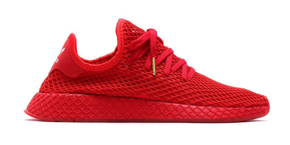 c6952b3ae2949 atmos x adidas Deerupt All-Red Release Date