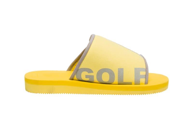 tyler the creator golf wang Suicoke kaw cab slide slip on sandal design collaboration footwear yellow beige october 25 27 2018 launch release date dover street market exclusive shoe