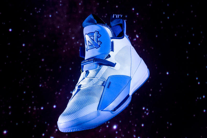7407c206d4e unc tar heels air jordan 33 pe 2018 footwear jordan brand white university  of north carolina