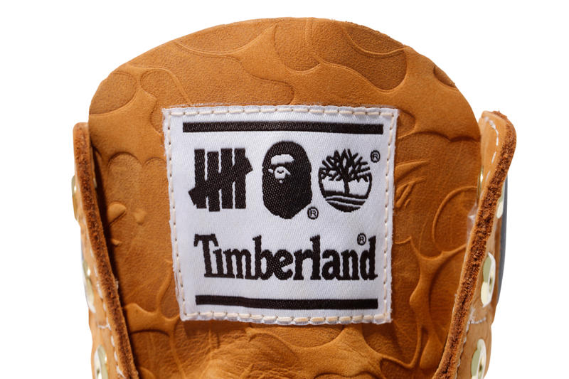 UNDEFEATED BAPE Timberland's Collection fall winter 2018 a bathing ape
