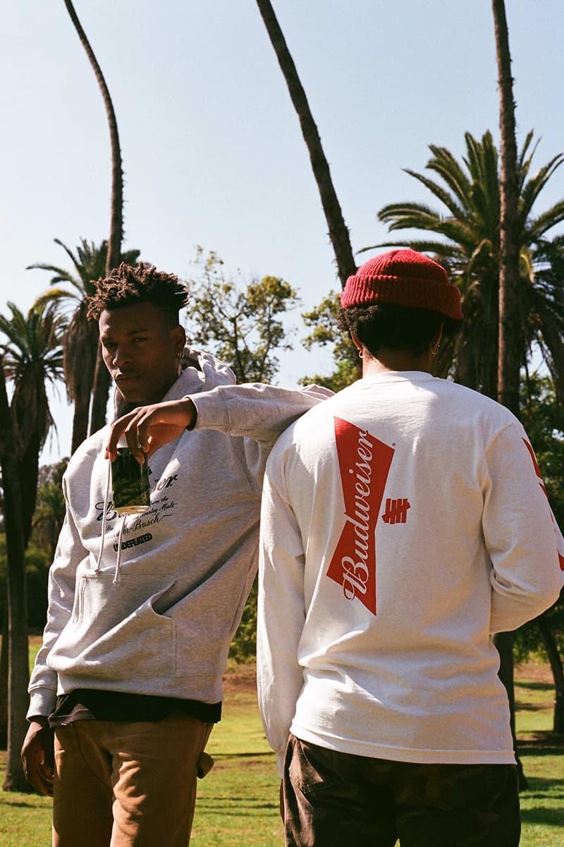 UNDEFEATED Budweiser shanghai Apparel Collaboration cans caps t-shirts hoodies crewnecks merch