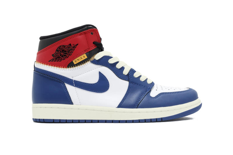 Potential Union LA Air Jordan 1 First Look Red Blue black white grey