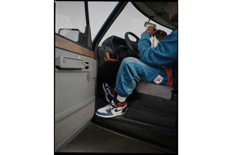 Union Jordan 1 Brand Apparel T-shirts hoodie track pants shorts Vintage weathered worn patinaed lookbook first look release details Chris Gibbs sneakers trainer